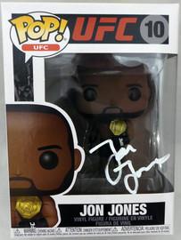 Jon Bones Jones Autographed UFC Funko POP Vinyl Figurine In White Beckett BAS Stock #185707