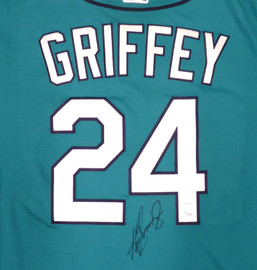 Seattle Mariners Ken Griffey Jr. Autographed Teal Nike Jersey Size XL Beckett BAS & MCS Holo Stock #185663