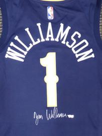 New Orleans Pelicans Zion Williamson Autographed Blue Nike Swingman Jersey Size L Fanatics Holo Stock #185680