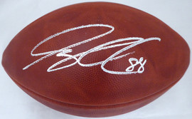 Greg Olsen Autographed NFL Leather Football Seattle Seahawks, Carolina Panthers MCS Holo Stock #185687