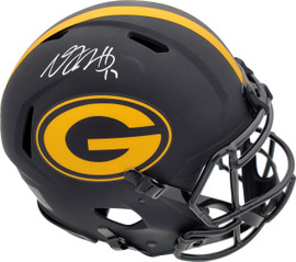 Davante Adams Autographed Green Bay Packers Black Eclipse Full Size Speed Authentic Helmet Beckett BAS Stock #185690