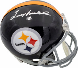 Terry Bradshaw Autographed Pittsburgh Steelers Throwback Full Size Replica Helmet Beckett BAS Stock #185720
