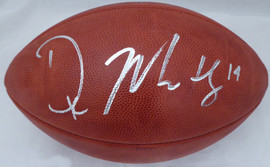 DK D.K. Metcalf Autographed NFL Leather Football Seattle Seahawks MCS Holo Stock #185729