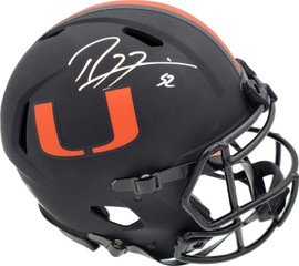 Ray Lewis Autographed Eclipse Black Miami Hurricanes Full Size Speed Authentic Helmet Beckett BAS Stock #185804