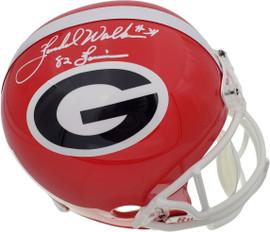 """Herschel Walker Autographed Georgia Bulldogs Full Size Replica Helmet """"82 Heisman"""" Beckett BAS Stock #185879"""