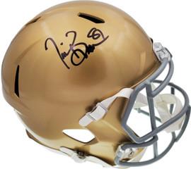 Tim Brown Autographed Notre Dame Fighting Irish Gold Full Size Speed Replica Helmet Beckett BAS Stock #185886