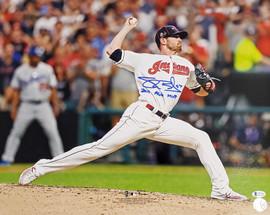 "Shane Bieber Autographed 16x20 Photo Cleveland Indians ""2019 ASG MVP"" Beckett BAS Stock #185901"
