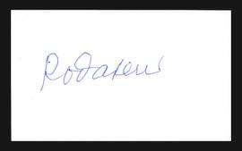 Rod Carew Autographed 3x5 Index Card Minnesota Twins Stock #185908