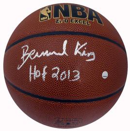 "Bernard King Autographed Spalding I/O Basketball New York Knicks ""HOF 2013"" Steiner Stock #185852"