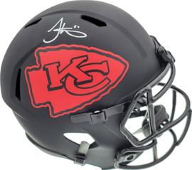 Tyreek Hill Autographed Kansas City Chiefs Eclipse Black Full Size Speed Replica Helmet Beckett BAS Stock #185952