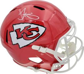 Tyreek Hill Autographed Kansas City Chiefs Full Size Speed Replica Helmet Beckett BAS Stock #185951