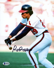 Rod Carew Autographed 8x10 Photo California Angels Signed In Black Beckett BAS Stock #185960