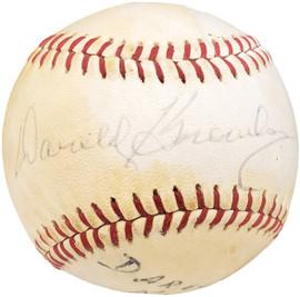 Darold Knowles Autographed Official Spalding Baseball Baltimore Orioles Beckett BAS #Y93055