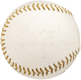 """Harry Caray Autographed Official Fotoball Baseball Chicago Cubs Announcer """"Holy Cow"""" PSA/DNA #AE73314"""