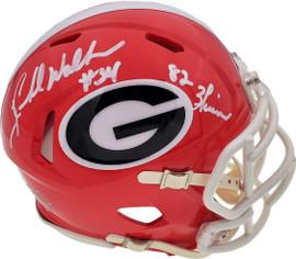 "Herschel Walker Autographed Georgia Bulldogs Speed Mini Helmet ""Heisman 82"" Beckett BAS Stock #185958"