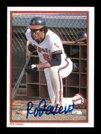 Rod Carew Autographed 1984 Topps All Star Set Card #26 California Angels SKU #186672