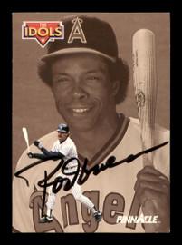 Rod Carew Autographed 1992 Pinnacle Card #584 California Angels SKU #186746