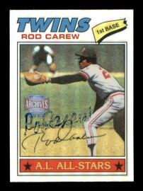 Rod Carew Autographed 2002 Topps Archives Reserve Card #6 Minnesota Twins SKU #186778