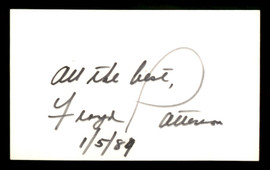"Floyd Patterson Autographed 3x5 Index Card ""All the Best"" SKU #186860"