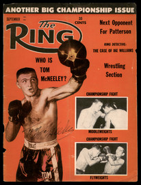 Tom McNeeley Autographed Ring Magazine Cover (Light) SKU #186864