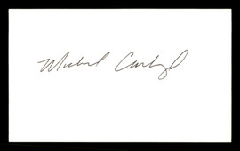 Michael Carbajal Autographed 3x5 Index Card SKU #186883