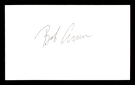 Bob Arum Autographed 3x5 Index Card Promoter SKU #186905