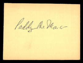 Paddy DeMarco Autographed 4x5 Card SKU #186920