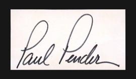 Paul Pender Autographed 1.5x3 Cut SKU #186925