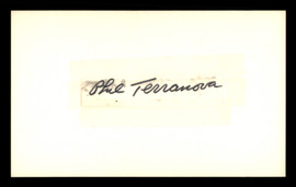 Phil Terranova Autographed .5x2.5 Cut SKU #186926