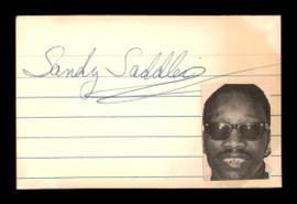 Sandy Saddler Autographed 2x3 Cut SKU #186931