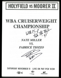 Nate Miller & Fabrice Tiozzo Autographed Program SKU #186938