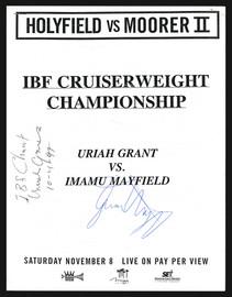 Uriah Grant & Imamu Mayfield Autographed Program SKU #186939