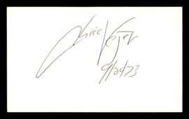 Chico Vejar Autographed 3x5 Index Card SKU #186942