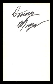 Denny Moyer Autographed 3x5 Index Card SKU #186945