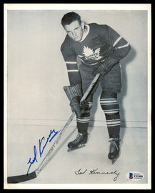 Ted Kennedy Autographed 1945-54 Quaker Oats 8x10 Photo Toronto Maple Leafs Beckett BAS #Y92488