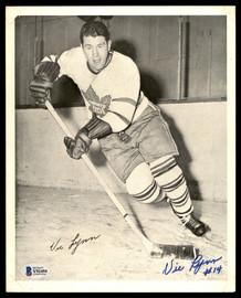 Vic Lynn Autographed 1945-54 Quaker Oats 8x10 Photo Toronto Maple Leafs Beckett BAS #Y92494