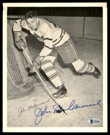John McCormack Autographed 1945-54 Quaker Oats 8x10 Photo Toronto Maple Leafs Beckett BAS #Y92496