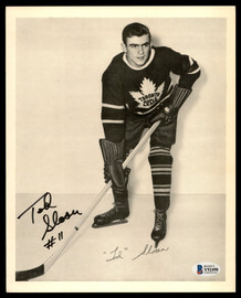 Tod Sloan Autographed 1945-54 Quaker Oats 8x10 Photo Toronto Maple Leafs Beckett BAS #Y92498