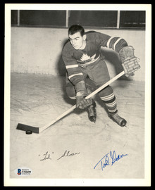 Tod Sloan Autographed 1945-54 Quaker Oats 8x10 Photo Toronto Maple Leafs Beckett BAS #Y92499