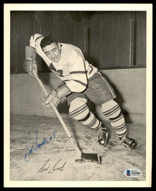 Sid Smith Autographed 1945-54 Quaker Oats 8x10 Photo Toronto Maple Leafs Beckett BAS #Y92500