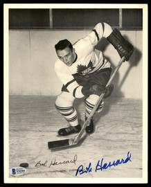 Bob Hassard Autographed 1945-54 Quaker Oats 8x10 Photo Toronto Maple Leafs Beckett BAS #Y92501