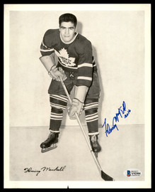 Fleming Mackell Autographed 1945-54 Quaker Oats 8x10 Photo Toronto Maple Leafs Beckett BAS #Y92504