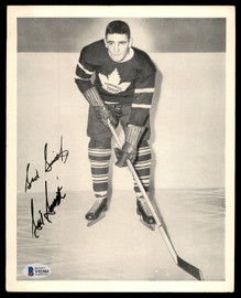 Sid Smith Autographed 1945-54 Quaker Oats 8x10 Photo Toronto Maple Leafs Beckett BAS #Y92505