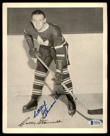Wally Stanowski Autographed 1945-54 Quaker Oats 8x10 Photo Toronto Maple Leafs Beckett BAS #Y92520