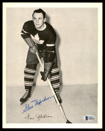 Gus Mortson Autographed 1945-54 Quaker Oats 8x10 Photo Toronto Maple Leafs Beckett BAS #Y92512