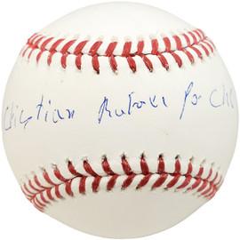 Cristian Pache Autographed Official MLB Baseball Atlanta Braves Full Name BAS Stock #186807