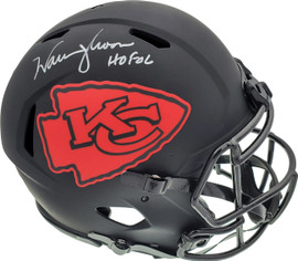 "Warren Moon Autographed Kansas City Chiefs Eclipse Black Full Size Speed Authentic Helmet ""HOF 06"" MCS Holo Stock #187025"