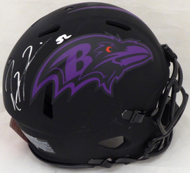 Ray Lewis Autographed Baltimore Ravens Eclipse Black Full Size Authentic Speed Helmet Beckett BAS #WF53810