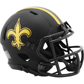 New Orleans Saints Unsigned Eclipse Black Speed Mini Helmet Stock #187032
