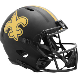 New Orleans Saints Unsigned Eclipse Black Speed Full Size Replica Helmet Stock #187030